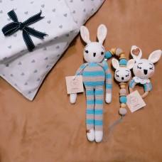 Oyuncak Tavşan Bebek Emzik tutucu Çıngırak